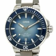 Oris Aquis Lake Bical Limited Edition With Box Guarantee Purchased In 2020 Blu