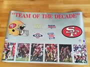 San Francisco 49ers Team Of The Decade Superbowl Poster Starline Jerry Rice