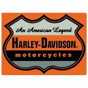 Harley Davidson Motorcycles Sign Tin An American Legend Sign 17 X 12 1/2 New