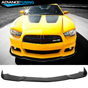 Fits 11-14 Dodge Charger Srt 3pcs Front Bumper Lip Body Protector Ikon Style-pu