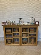 Longaberger Jw Miniature Basket Glass Display Collection Extra Accessories