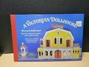 1982 A Victorian Dollhouse Fold Out Pop Up 3d Real Doll House Activity Book