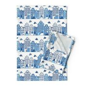 Street House Bird Stairs Door City Linen Cotton Tea Towels By Roostery Set Of 2