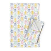 Easter Eggs Easter Eggs Spring Linen Cotton Tea Towels By Roostery Set Of 2