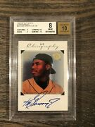 1998 Sp Authentic /400 Ken Griffey Jr Chirography Auto Bgs 8 Auto 10 Mariners