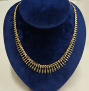 Fine Vintage Style Cleopatra Necklace 375 9ct Gold- Length 18in 46cm - 17.9g