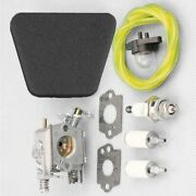 Carburetor Kit Chainsaw Motor For Poulan Mcculloch Mac Air Fuel Filter