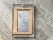 Mike Trout 2021 Allen And Ginter True 1/1 Gold Framed Black Printing Plate Mini