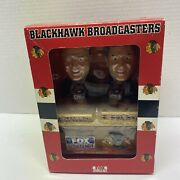 Pat Foley And Dale Tallon Nhl Chicago Blackhawks Broadcaster Bobbleheads Signed