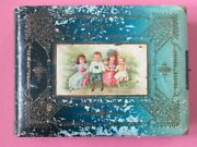 Victorian Photo Album 47 Antique Family Cabinet Cards Cdv Tintypes 9x12 Leather