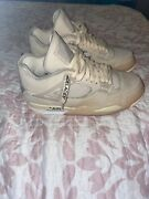 Air Jordan 4 Off White Sail Woman's Used Size 10w-8.5m Very Clean Ships Free