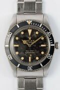 Rolex Submariner 5508 Exclamation Dial Auto Vintage Watch 1959and039s Overhauled