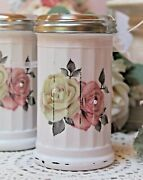 Shabby Chic Vintage French Style Kitchen Decor Sugar Dispenser Pink Roses/lace