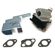 Carburetor With Bracket And Gaskets For Rotary 13148 And Oregon 50-649, 50649 Carb