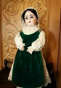 Antique Doll Very Rare Binder And Cie Societe Articulated Wood Body