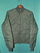 Exc Vintage Military Usaf Cwu-9/p Liners Quilted Jacket Tag Sz Mmeasures Sz L