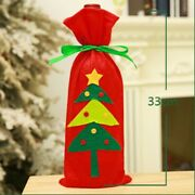 Wine Bottle Bags 6pc Santa Christmas Gift Party Xmas Stocking Table-decorations
