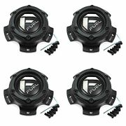 4x Fuel Off-road Wheels Matte Black Wheel Center Hub Caps 5-3/8od Snap-in For 5