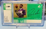 1998 Sp Authentic Players Ink Randy Moss Auto Rookie Rc Graded Csg 9/10 Hof Rm