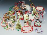 22 Pc Lot Vintage Jewelry Earrings Bracelets Brooches On Christmas Gift Tags