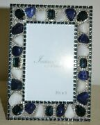 Isabella Adams Montana Blue Crystal And Mix Gemstone 3.5 X 5 Frame Picture Frame