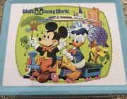 D23 Wdw 50th Gold Member Lunchbox And Pin Set And Wdw 50th D23 Magazine New
