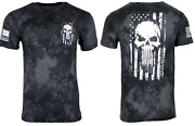 Howitzer Style Menand039s T-shirt Skull Flag Military Grunt M L Xl 2xl 3xl