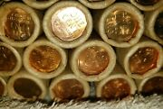 Bu Wheat Penny Rolls-uncirculated Lincoln Cents Pd And S Mint Marks Estate Find