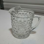 Vintage Fostoria American Clear Glass Water Pitcher With Ice Lip 8 1/2 Inches