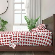 Ladybug Insects Bugs Ladybugs Dotted 100 Cotton Sateen Sheet Set By Roostery