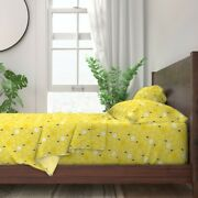 Bugs Insects Creepy Crawly Bees 100 Cotton Sateen Sheet Set By Roostery