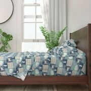 Beach Wood Crab Seahorse Shells Old Sea 100 Cotton Sateen Sheet Set By Roostery