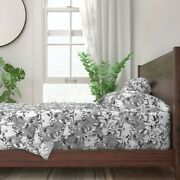 Goat Ink Illustration Animals Horns 100 Cotton Sateen Sheet Set By Roostery