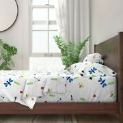 Bee Bugs Insects Spider Ant Dragonfly 100 Cotton Sateen Sheet Set By Roostery