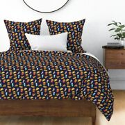 Junk Foods Hot Dog Burger Fizzy Pop Chips Greasy Sateen Duvet Cover By Roostery