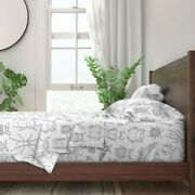 Bugs Black And White Insects Beetles 100 Cotton Sateen Sheet Set By Roostery