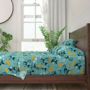 Cats Mid Century Modern Happy Hour 100 Cotton Sateen Sheet Set By Roostery