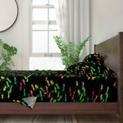Picnic Summer July 4th Rainbow Ants 100 Cotton Sateen Sheet Set By Roostery