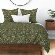 Gnome Gnomes Garden Woodland Mushroom Mushrooms Sateen Duvet Cover By Roostery