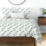 Christmas Watercolor Xmas Vintage Tree Shabby Sateen Duvet Cover By Roostery