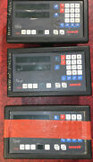 Lot Of 3 Newall Topaz Lathe Digital Readout Units Tl211000 For Parts Or Repair