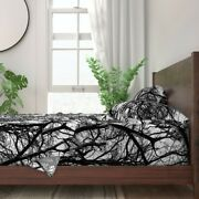 Tree Photographic Lace Black And White 100 Cotton Sateen Sheet Set By Roostery