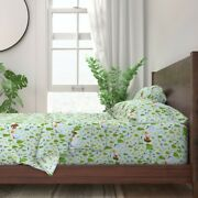 Watercolor Bigfoot Sasquatch Yeti 100 Cotton Sateen Sheet Set By Roostery