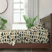Butterflies Pin Board Insects Bugs 100 Cotton Sateen Sheet Set By Roostery