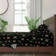 Colorful Spiders Jewel Tone Bugs And 100 Cotton Sateen Sheet Set By Roostery