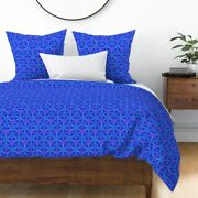 Egg Circle Pysanky Easter Flower Of Life Flower Sateen Duvet Cover By Roostery