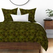 Bigfoot Yeti Sasquatch Abominable Snowman Mythic Sateen Duvet Cover By Roostery
