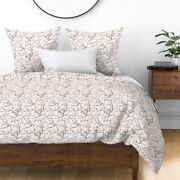 Cherry Blossoms Branches Pinks Trees Flowers Sateen Duvet Cover By Roostery
