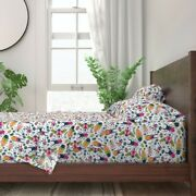 Lady Bugs Colorful Insects Crawlers 100 Cotton Sateen Sheet Set By Roostery