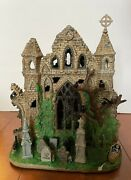 Lemax Spooky Town Halloween Village - Lighted Gothic Ruins - In Box - Works